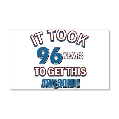 Awesome 96 year old birthday design Car Magnet 20