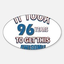 Awesome 96 year old birthday design Decal