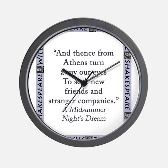 And Thence From Athens Wall Clock