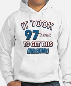 Awesome 97 year old birthday design Hoodie