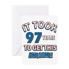 Awesome 97 year old birthday design Greeting Card