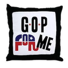 GOP For Me Throw Pillow