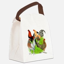 Old English Games Canvas Lunch Bag