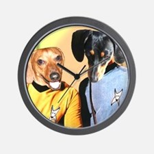 Dog Star Dachshunds Wall Clock