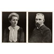 Marie and Pierre Curie, French physicists Poster