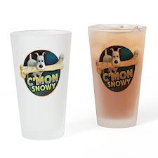 C'mon Snowy Drinking Glass