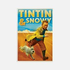 Tintin & Snowy Rectangle Magnet