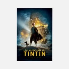 Tintin Movie Rectangle Magnet