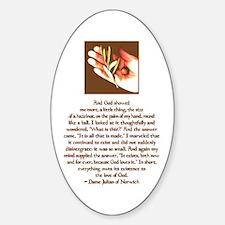 Hazelnut Oval Decal