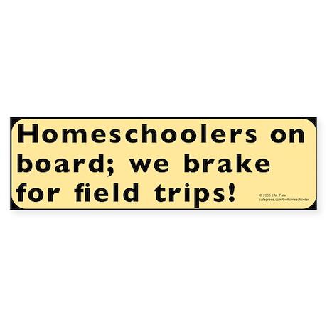 Homeschool Field Trip Bumper Sticker - lt. yellow