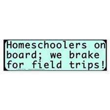 Homeschool Field Trip Bumper Sticker - lt. aqua