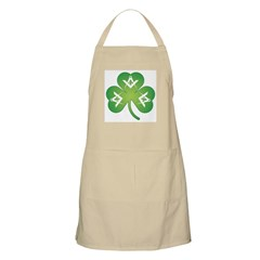 Masonic Irish clover BBQ Apron