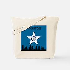 Houston Flag and Skyline Tote Bag