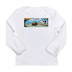 Thanksgiving Turkey Tired Long Sleeve Infant T-Shi