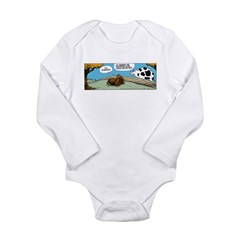 Thanksgiving Turkey Tired Long Sleeve Infant Bodys