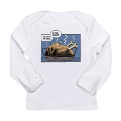 Thanksgiving Turkey Heat Long Sleeve Infant T-Shir