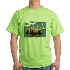Thanksgiving Turkey Heat Green T-Shirt