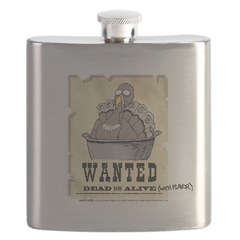 Thanksgiving Turkey Wanted Flask