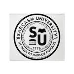Sarcasm University (S) Throw Blanket
