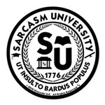 Sarcasm University (S) Round Car Magnet
