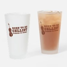 Born To Be Cellist Drinking Glass