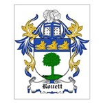 Rouett Coat of Arms Small Poster
