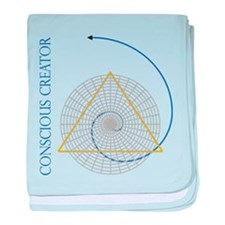 sacred geometry fibonacci baby blanket