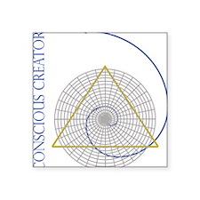 "sacred geometry fibonacci Square Sticker 3"" x 3"""