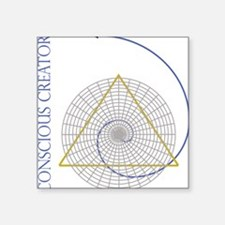 "sacred geometry fibonacci Square Sticker 3"" x 3"""
