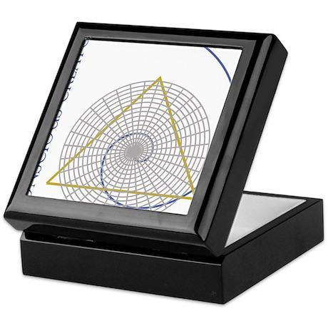 sacred geometry fibonacci Keepsake Box