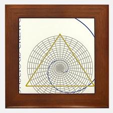 sacred geometry fibonacci Framed Tile
