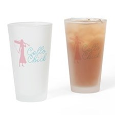 Cello Chick Drinking Glass