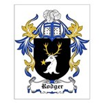 Rodger Coat of Arms Small Poster