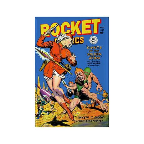 Rocket Comics #55 Rectangle Magnet