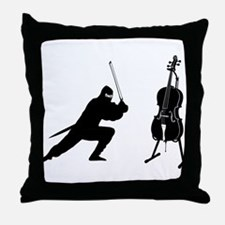 Cello Ninja Throw Pillow