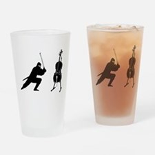Cello Ninja Drinking Glass