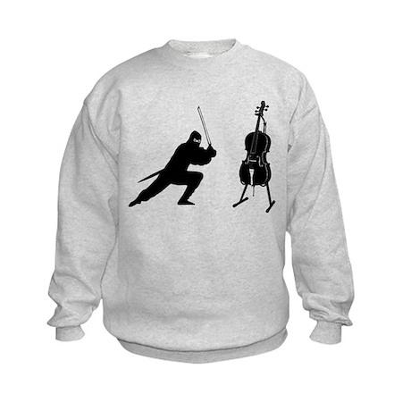 Cello Ninja Kids Sweatshirt