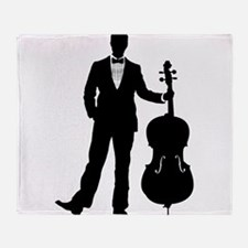 Cellist Throw Blanket