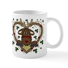 Christmas Reindeer Wreath Mug