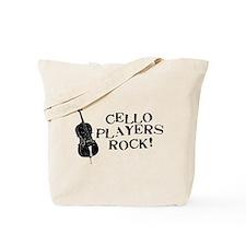 Cello Players Rock Tote Bag
