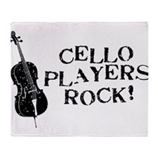 Cello Players Rock Throw Blanket