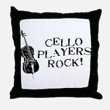 Cello Players Rock Throw Pillow