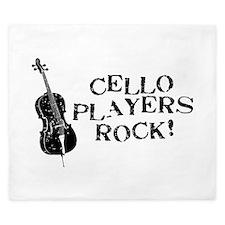 Cello Players Rock King Duvet