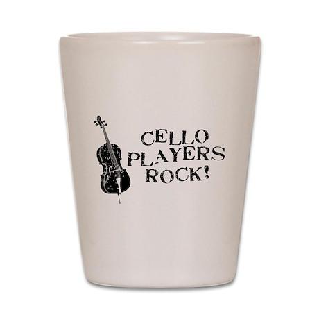 Cello Players Rock Shot Glass