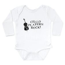 Cello Players Rock Long Sleeve Infant Bodysuit