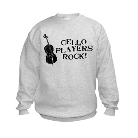 Cello Players Rock Kids Sweatshirt
