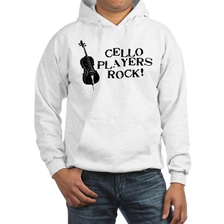 Cello Players Rock Hooded Sweatshirt
