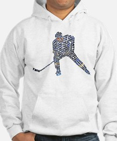 Hockey Player Typography Hoodie