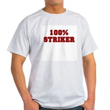 100% Striker Ash Grey T-Shirt