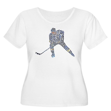 Hockey Player Typography Women's Plus Size Scoop N